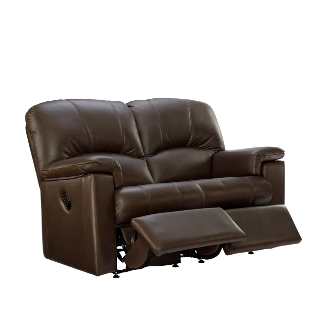 Chloe G Plan Chloe 2 Seater Double Recliner Sofa In Leather