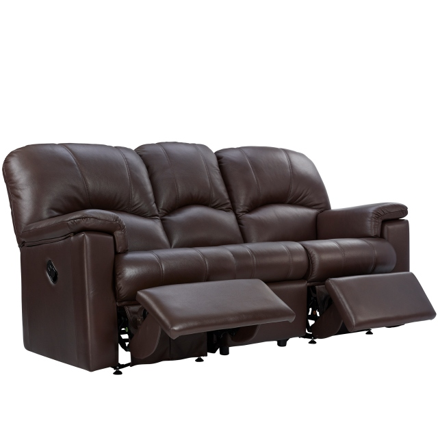 Chloe G Plan Chloe 3 Seater Double Recliner Sofa In Leather