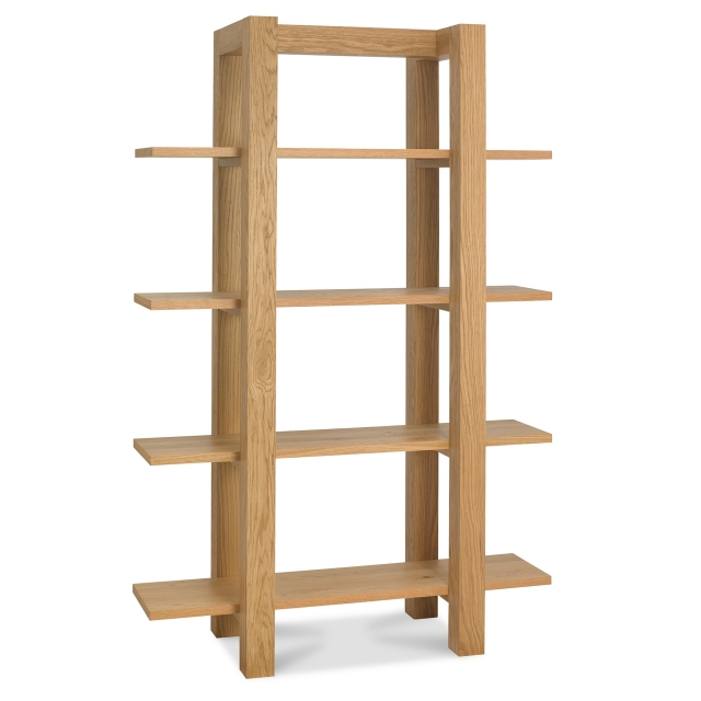 TRINITY LIGHT OAK Cookes Collection Trinity Light Oak Open Display Unit