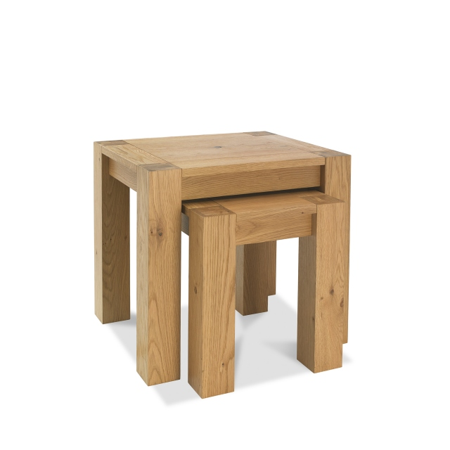 TRINITY LIGHT OAK Cookes Collection Trinity Light Oak Nest of Tables