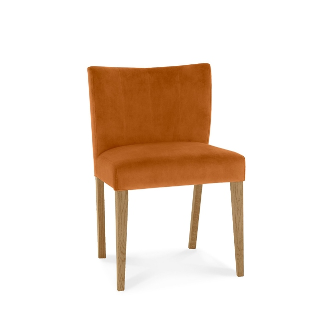 TRINITY LIGHT OAK Cookes Collection Trinity Low Back Upholstered Chair In Pumpkin Velvet