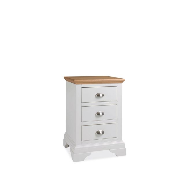 Cookes Collection Camden Two Tone 3 Drawer Nightstand