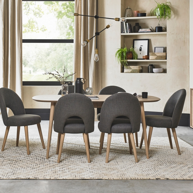 Cookes Collection Fino Scandi Oak, Modern Oak Dining Room Chairs