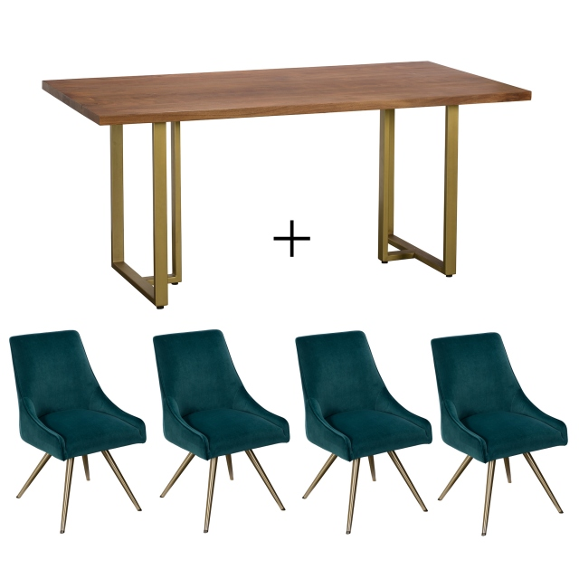 Mario Dining Table and 4 Chairs 1