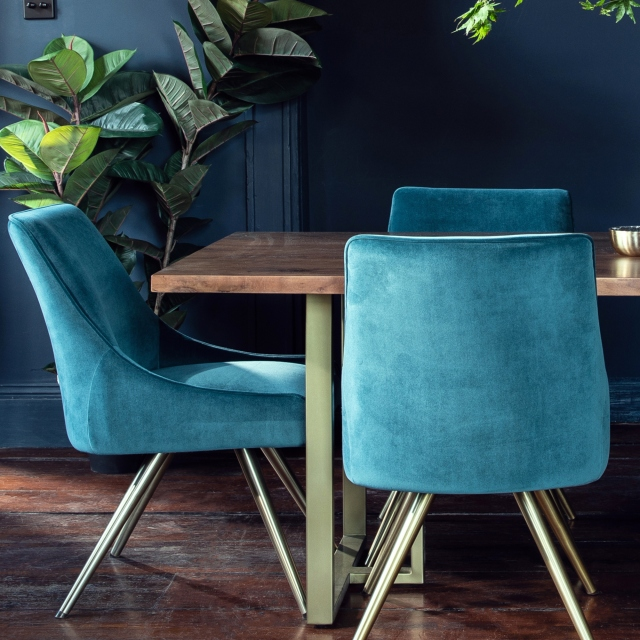 Mario Dining Table And 6 Chairs, Teal Dining Room Chairs