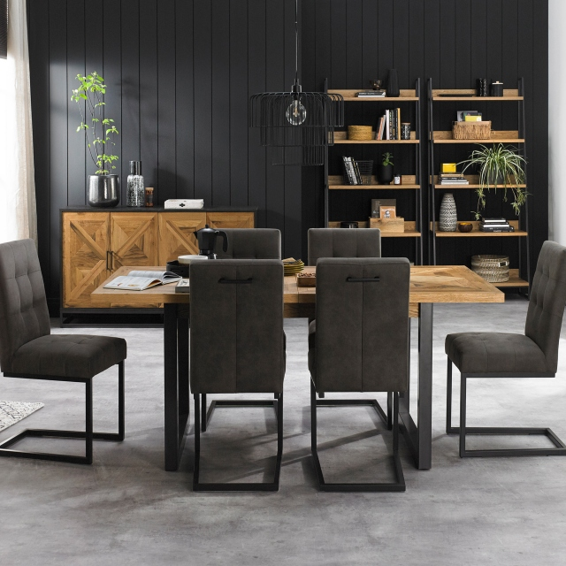 Cookes Collection Iris Extending Dining Table & 6 Cantilever Chairs 1