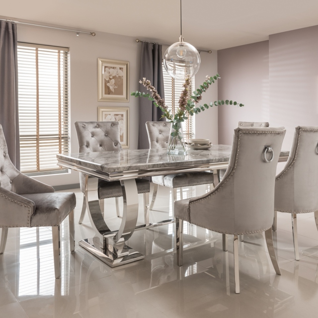 Cucina Letters Kitchen Decor, Valentina Dining Table And 6 Chairs Dining Sets