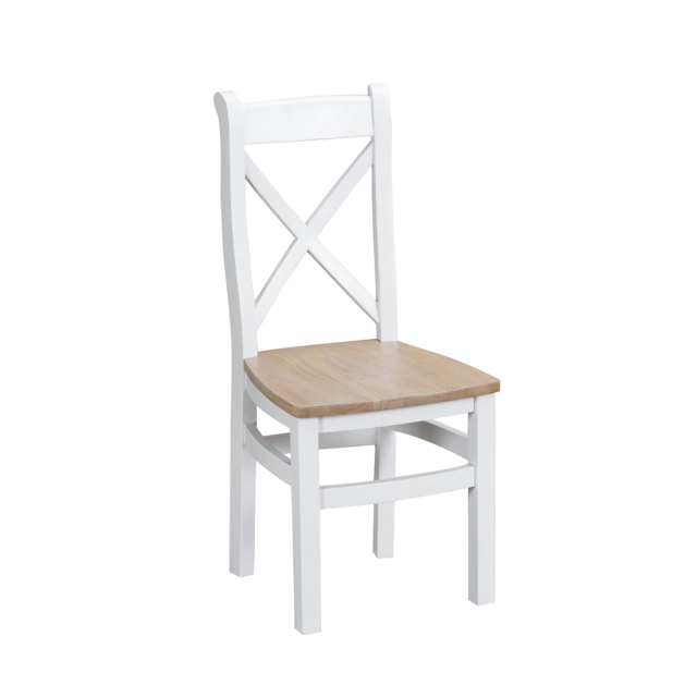 Cookes Collection Thames White Crossed Back Chair 1
