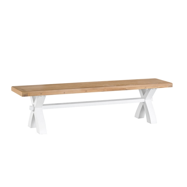 Cookes Collection Thames White Small Bench