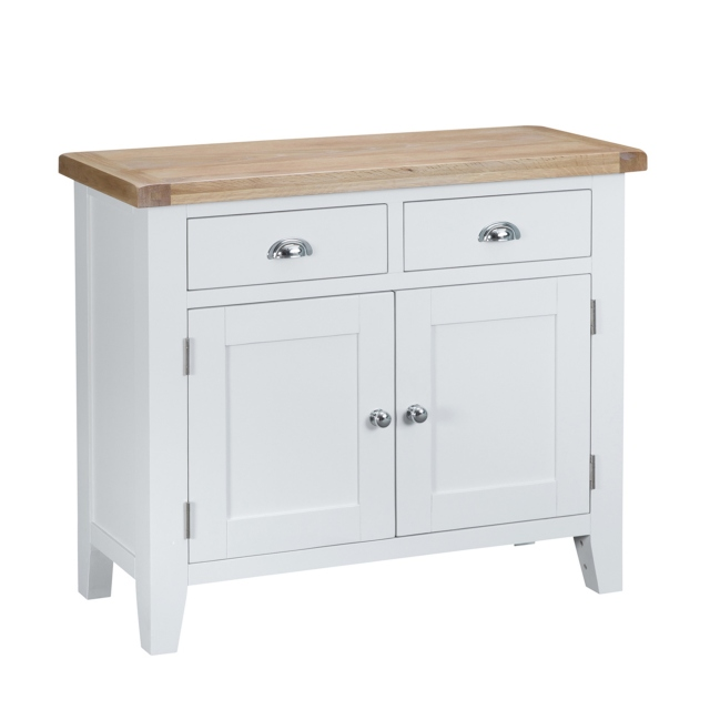 Cookes Collection Thames White 2 Door Sideboard 1