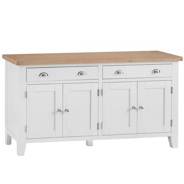 Cookes Collection Thames White 4 Door Sideboard 1
