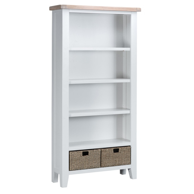 Cookes Collection Thames White Large Bookcase 1