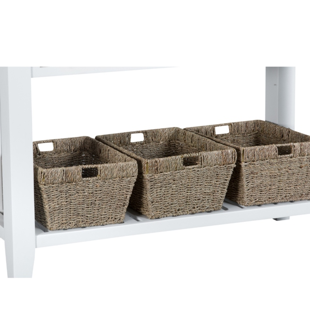 London Dining White Cookes Collection Large Console Table Tables Furniture - White Console Table With Storage Baskets