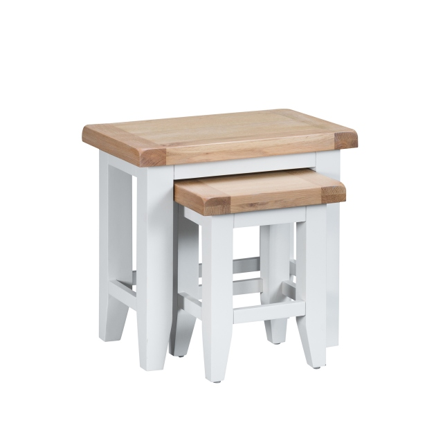 Cookes Collection Thames White Nest of Tables 1