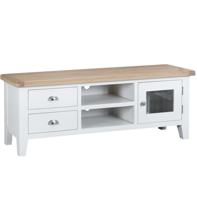 Cookes Collection Thames White TV Unit 1