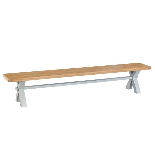 Cookes Collection Thames Grey Large Cross Bench 1