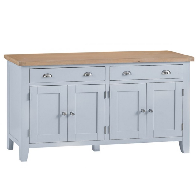 Cookes Collection Thames Grey 4 Door Sideboard 1