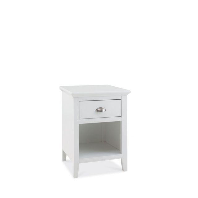 Cookes Collection Camden White 1 Drawer Nightstand