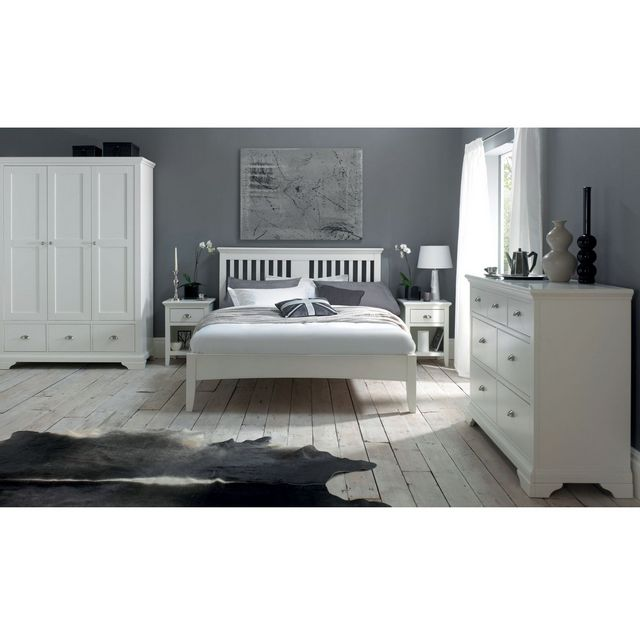 Terrific Cookes Collection Camden White Double Wardrobe Home Interior And Landscaping Palasignezvosmurscom