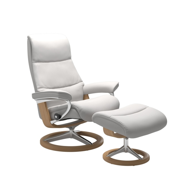 Stressless View Small Chair & Stool Signature Base 1