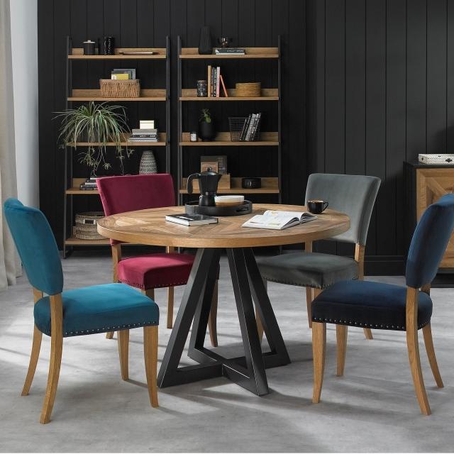 Iris Circular Dining Table 4 Chairs Cookes Furniture