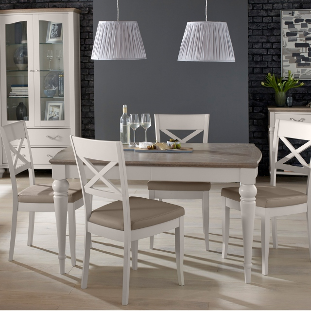 Cookes Collection Geneva Dining Table & 4 X Back Chairs 1
