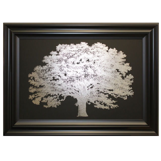 One Tree Silver Print with Black Frame 1