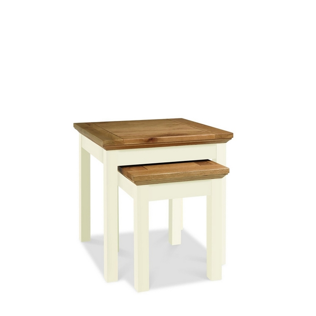 Cookes Collection Romana Two Tone Nest Of Tables