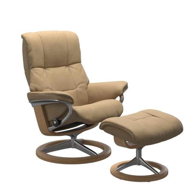 Stressless Mayfair Medium Chair & Stool Signature Base Special Edition
