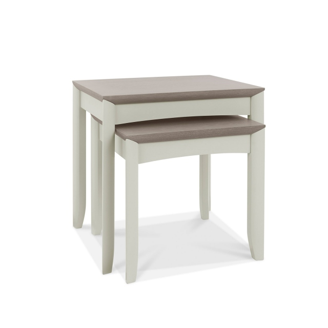 Cookes Collection Romy Soft Grey Nest of Tables 1