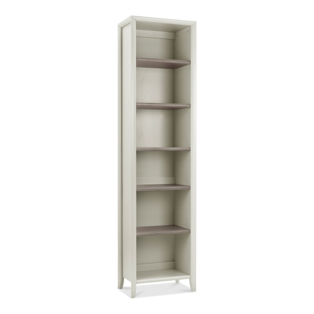 Cookes Collection Romy Soft Grey Narrow Bookcase 1