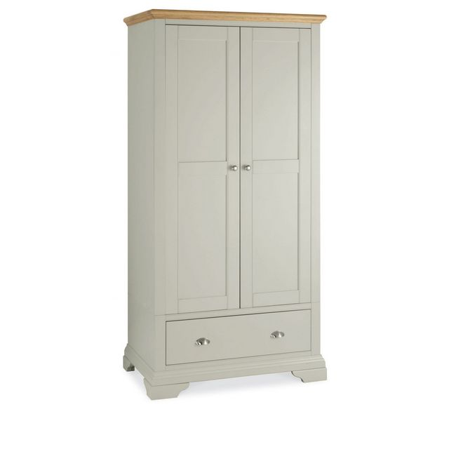 Cookes Collection Camden Soft Grey and Pale Oak Double Wardrobe