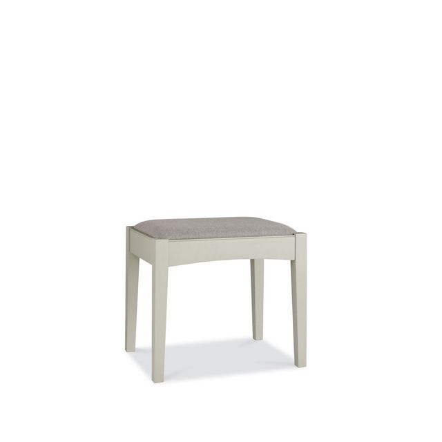 Cookes Collection Camden Soft Grey and Pale Oak Stool