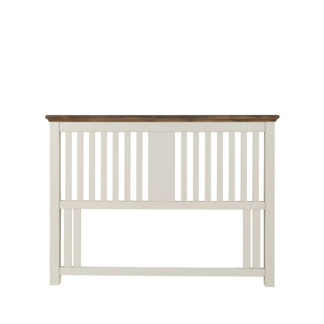 Cookes Collection Camden Soft Grey and Walnut Slatted Headboard Double