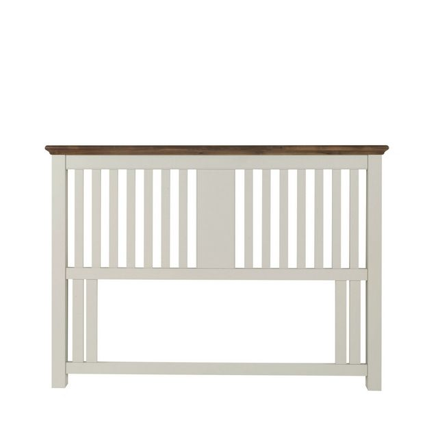 Cookes Collection Camden Soft Grey and Walnut Slatted Headboard King