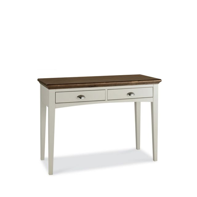 Cookes Collection Camden Soft Grey and Walnut Dressing Table
