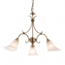 Antique Brass 3 Light Fitting