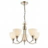 Satin Chrome 5 Light Fitting 1