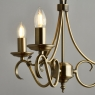 Antique Fitting with 3 Candles 3