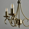 Antique Fitting with 3 Candles 4