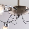 Chrome 5 Light Fitting w/Raindrops 3