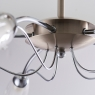 Chrome 5 Light Fitting w/Raindrops 4