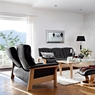 Stressless Buckingham High Back 3 Seater Sofa in Cori Leather