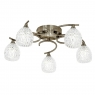 Antique Brass 5 Light Ceiling Fitting