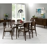 Cookes Collection Norway Walnut 6 Seater Dining Table