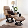 Stressless Sunrise Small Chair And Stool 1