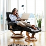 Stressless Reno Large Chair & Stool Classic Base 5