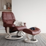 Stressless Reno Large Chair & Stool Classic Base 7