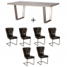 Cookes Collection Urban Large Dining Table And 6 Chairs