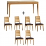 Ercol Romana Medium Extending Dining Table And 6 Slatted Chairs